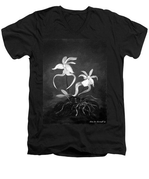 Ghost Orchids Men's V-Neck T-Shirt