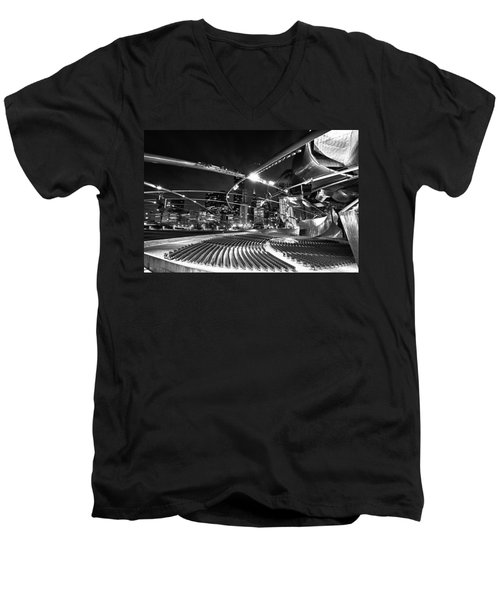 Millennium Park Men's V-Neck T-Shirt by Sebastian Musial