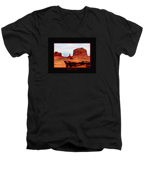 Men's V-Neck T-Shirt featuring the photograph Monument Valley II by Tom Prendergast
