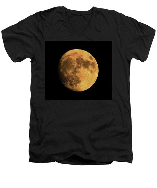 Moon Men's V-Neck T-Shirt by Rowana Ray