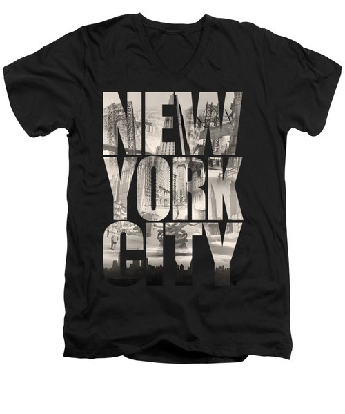 New York City Men's V-Neck T-Shirt