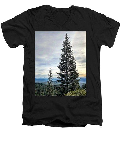 2 Pine Trees Men's V-Neck T-Shirt