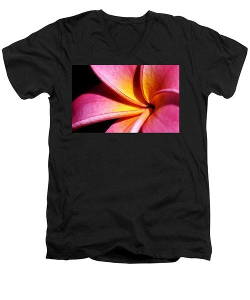 Plumeria Flower Men's V-Neck T-Shirt