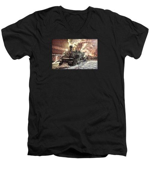 Polar Express. Durango, Colorado #1 Men's V-Neck T-Shirt