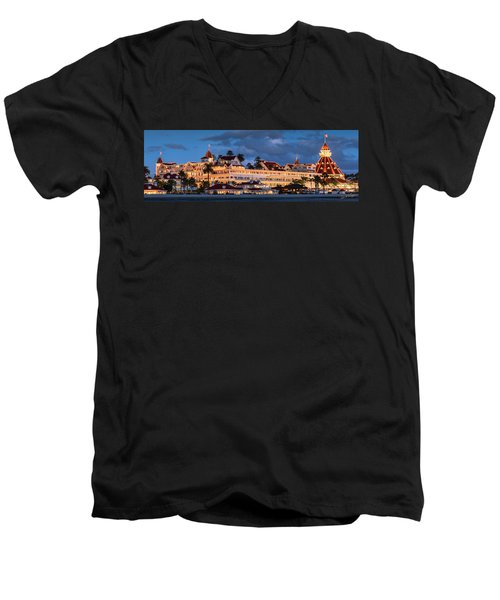 Pure And Simple Pano 60x20 Men's V-Neck T-Shirt