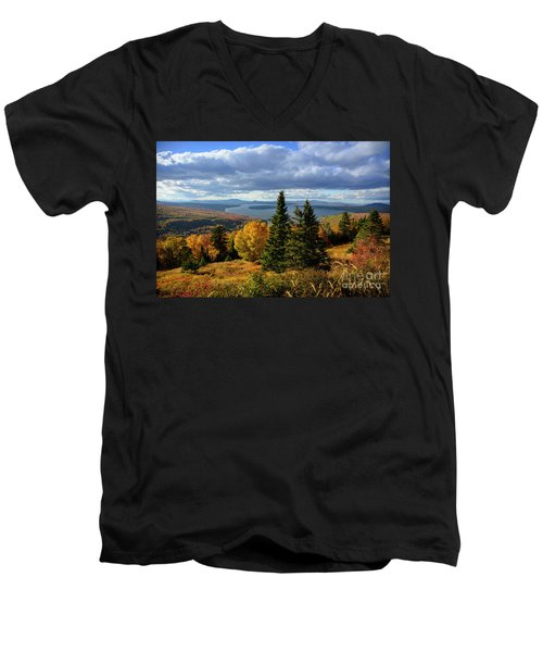 Rangeley Overlook Men's V-Neck T-Shirt