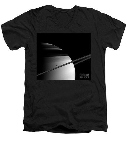 Saturn Men's V-Neck T-Shirt