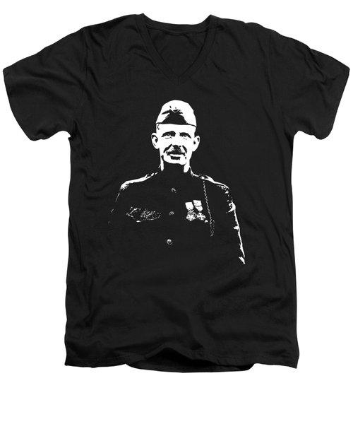 Sergeant Alvin York Graphic Men's V-Neck T-Shirt
