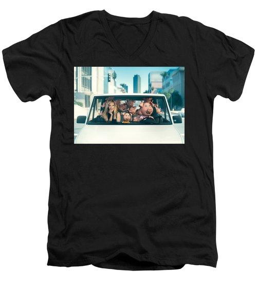 Sing Men's V-Neck T-Shirt