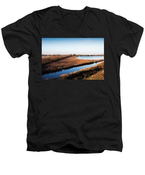 Sunrise In The Ditch Burlamacca Men's V-Neck T-Shirt
