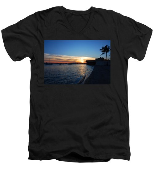 Men's V-Neck T-Shirt featuring the photograph 2- Sunset In Paradise by Joseph Keane