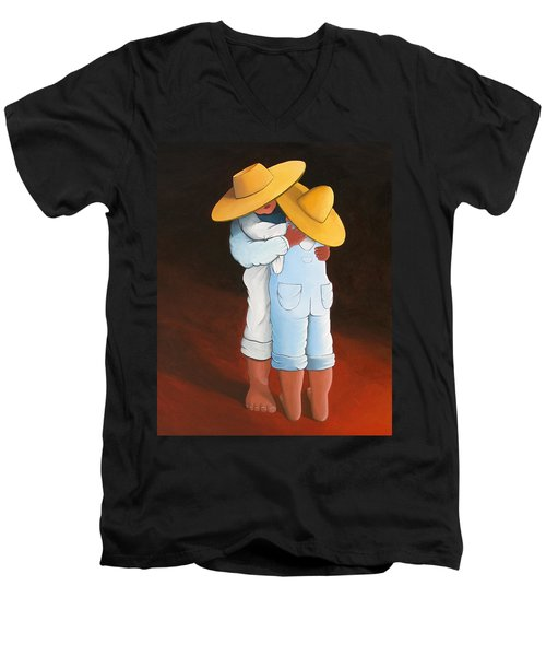 Sweet Embrace Men's V-Neck T-Shirt