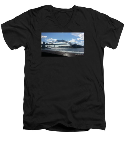 Sydney Harbor Bridge Men's V-Neck T-Shirt