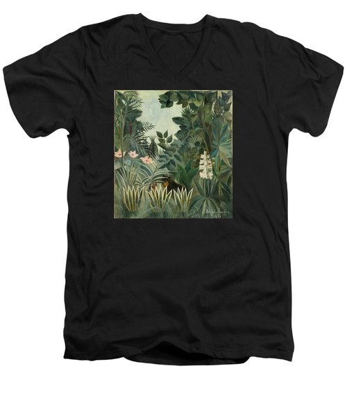 The Equatorial Jungle Men's V-Neck T-Shirt
