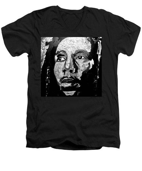Tribute To Bob Marley Men's V-Neck T-Shirt