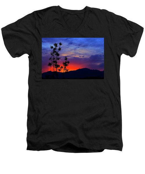 Wasatch Sunrise Men's V-Neck T-Shirt