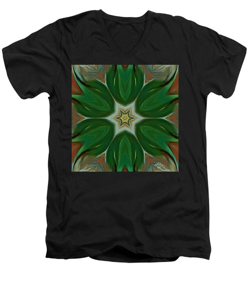 Watercolor Flower Art Men's V-Neck T-Shirt