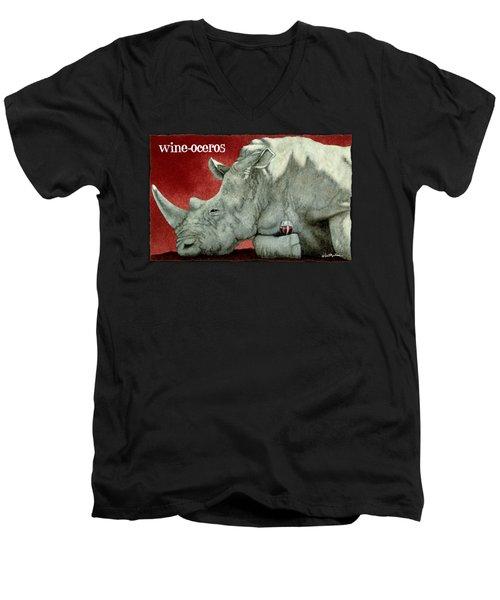 Wine-oceros Men's V-Neck T-Shirt