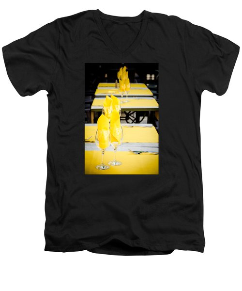 Men's V-Neck T-Shirt featuring the photograph Yellow by Jason Smith