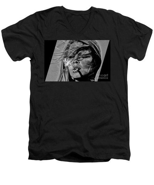 Brigitte Bardot Collection Men's V-Neck T-Shirt by Marvin Blaine