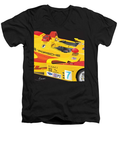 2008 Rs Spyder Illustration Men's V-Neck T-Shirt