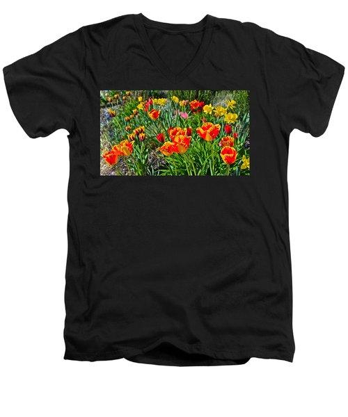 2015 Acewood Tulips 1 Men's V-Neck T-Shirt
