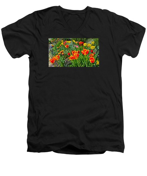 2015 Acewood Tulips 1 Men's V-Neck T-Shirt
