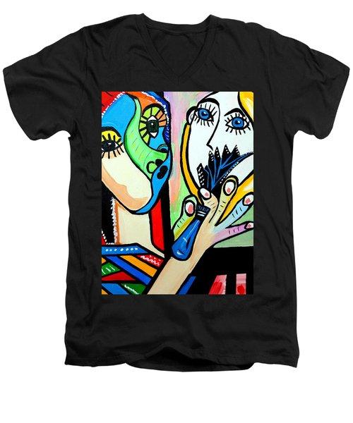 Artist Picasso Men's V-Neck T-Shirt