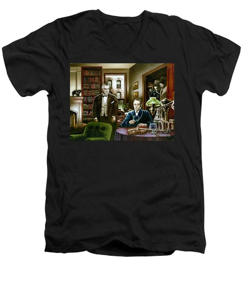 221 B Baker Street Men's V-Neck T-Shirt