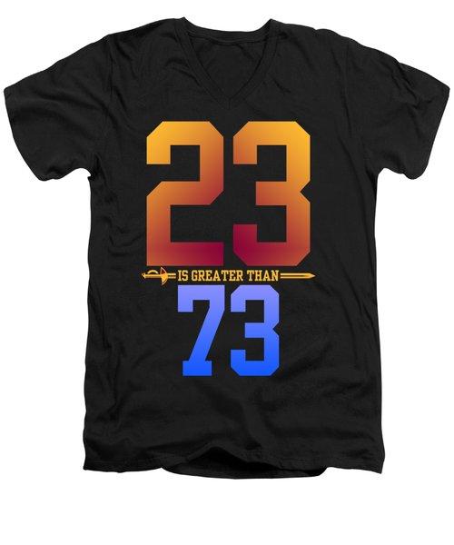 2373-2 Men's V-Neck T-Shirt by Augen Baratbate
