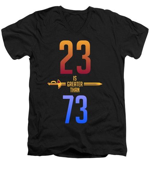 2373 Men's V-Neck T-Shirt by Augen Baratbate