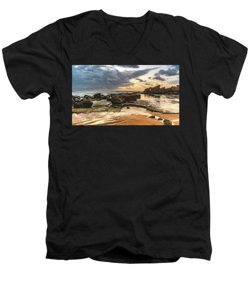 Dawn Seascape Men's V-Neck T-Shirt