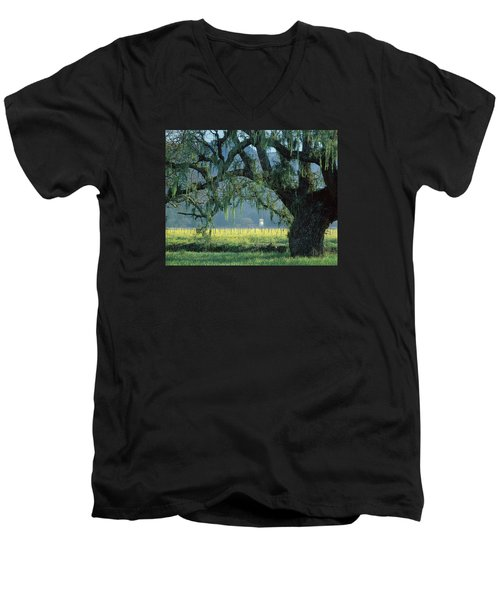 2b6319 Mustard In The Oaks Sonoma Ca Men's V-Neck T-Shirt