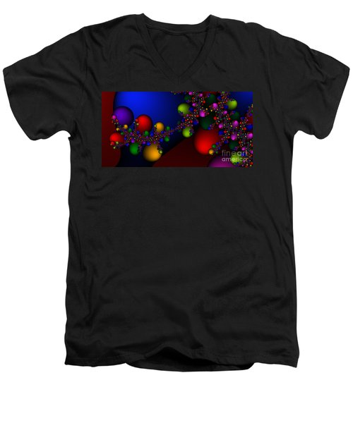 2x1 Abstract 330 Men's V-Neck T-Shirt