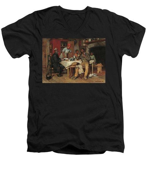 A Pastoral Visit Men's V-Neck T-Shirt