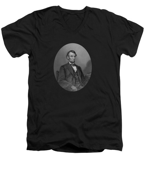 Abraham Lincoln Men's V-Neck T-Shirt by War Is Hell Store