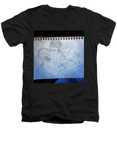 Adam Andeve The Creation Story Men's V-Neck T-Shirt