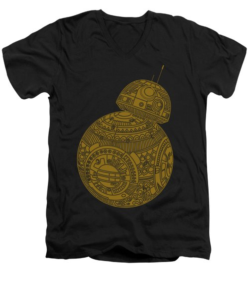 Bb8 Droid - Star Wars Art, Brown Men's V-Neck T-Shirt