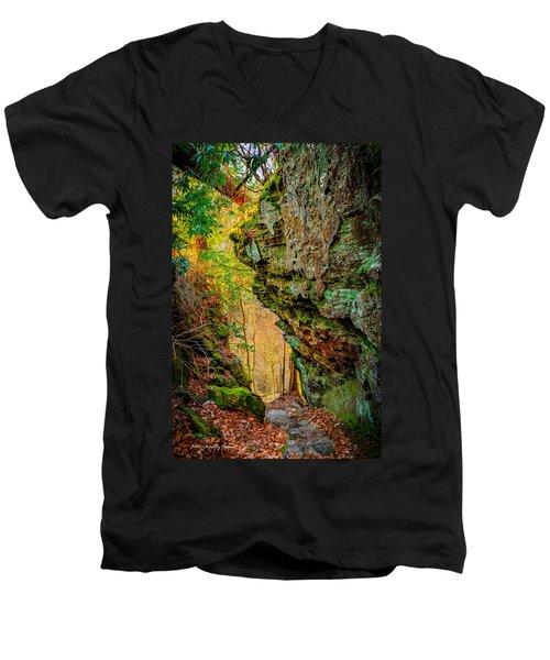 3 Bridges Trail #1 Men's V-Neck T-Shirt