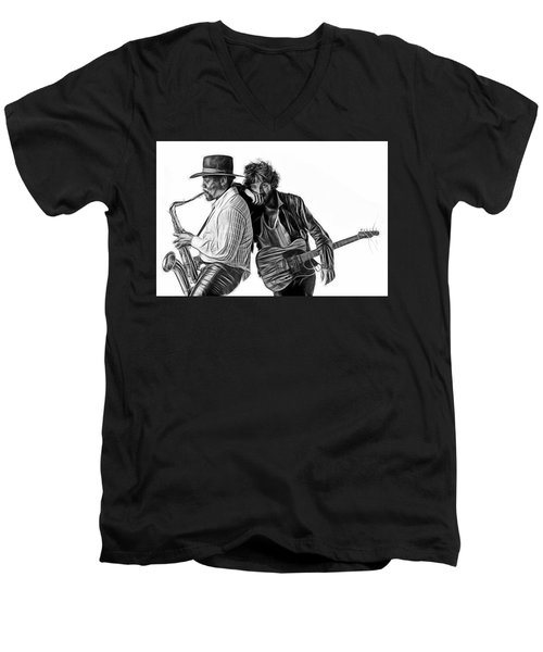 Bruce Springsteen Clarence Clemons Collection Men's V-Neck T-Shirt