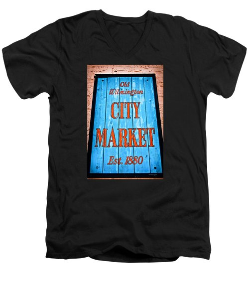 City Market Men's V-Neck T-Shirt