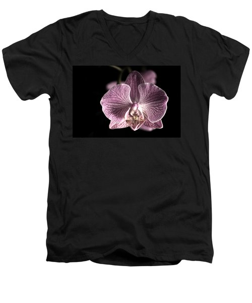 Close Up Shoot Of A Beautiful Orchid Blossom Men's V-Neck T-Shirt