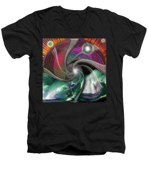 Cosmic Surfer Men's V-Neck T-Shirt