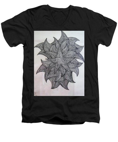 3 D Sketch Men's V-Neck T-Shirt