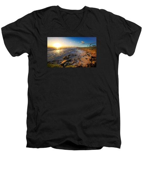 3 Degrees Below The Sun Men's V-Neck T-Shirt by Robert Och