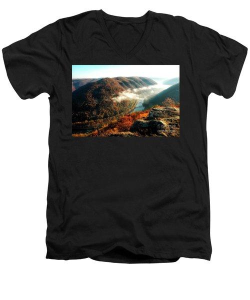 Grandview New River Gorge Men's V-Neck T-Shirt