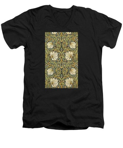 Pimpernel Men's V-Neck T-Shirt by William Morris