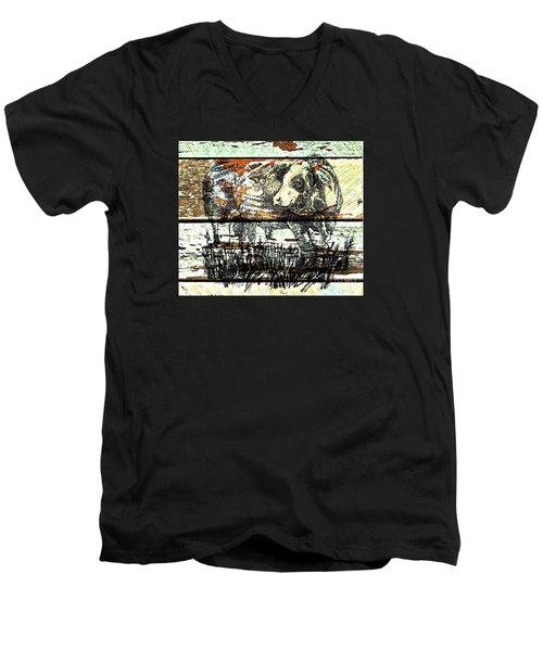 Simmental Bull Men's V-Neck T-Shirt