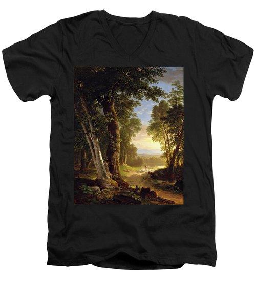 The Beeches Men's V-Neck T-Shirt