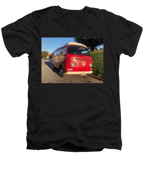 Volkswagen Bus T2 Westfalia Men's V-Neck T-Shirt